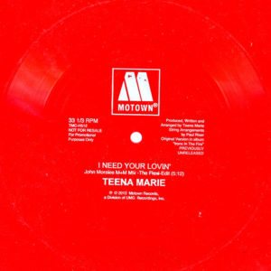 Tina Marie I Need Your Lovin' – Flexi Disc